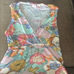 Tops - Flowered tank top small